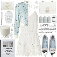 #azul#polyvore#blanco