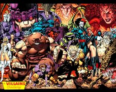 Wallpaper Wednesday: Jim Lee's Villains Gallery Art by: Jim Lee I had this on my wall as a poster when I was in Highschool!