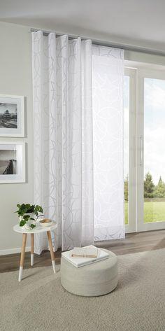 Hübscher Vorhang mit zartem Muster in Weiß von ESPOSA