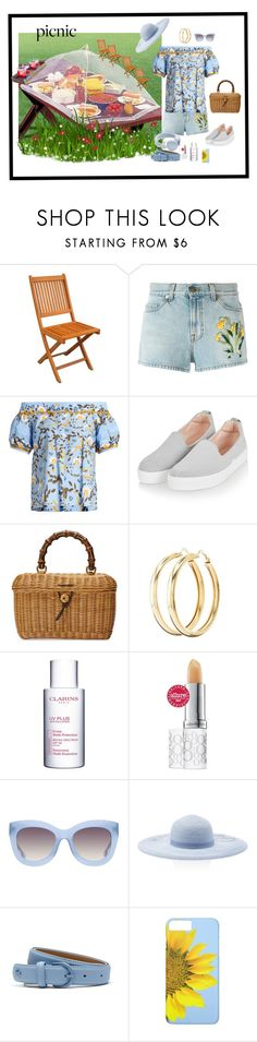 """""""Untitled #756"""" by skatiemae ❤ liked on Polyvore featuring Gucci, Peter Pilotto, Topshop, Charlotte Russe, Clarins, Elizabeth Arden, Alice + Olivia, Eugenia Kim, Lacoste and Urbanears"""
