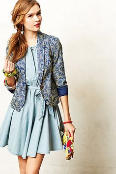 Legend & Song Methali Jacket #anthropologie  If I could find a kitenge like this, I would want this!