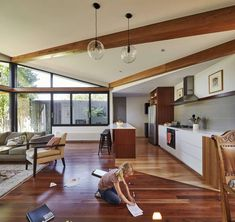 Charming Home for a Family of Five: The Diagonal House in Fitzroy, Australia - http://freshome.com/charming-home-for-a-family-of-five-the-diagonal-house-in-fitzroy-australia/