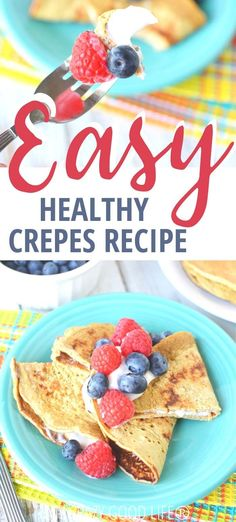 This easy crepe recipe is the perfect weekend breakfast recipe. These healthy crepes are made with oatmeal and egg whites for a heart healthy breakfast. This is our fool proof recipe to make the best savory or sweet crepes! 21 Day Fix Crepe Recipe Breakfast And Brunch, Heart Healthy Breakfast, Heart Healthy Desserts, Breakfast Crepes, Healthy Breakfast Recipes, Brunch Recipes, Breakfast Ideas, Mexican Breakfast, Pancake Recipes