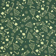 Goldene Weihnacht 4 - Baumwolle - dunkelgrün