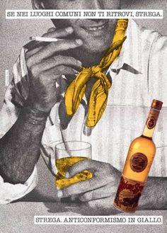 Liquore Strega Poster Campaign. Copywriter Laura Elli, Photo by Lorenzo Mancini