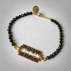 Itay Malkin black diamond bracelet.