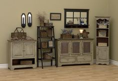 I love this primitive furniture. Jason...not so much :)