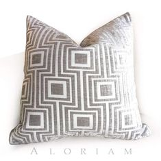 Items similar to Modern Silver Gray Square Lattice Geometric Chenille Velvet Pillow Cushion Zipper Cover, Fits Lumbar Inserts on Etsy Velvet Pillows, Throw Pillows, Square Lattice, Geometric Pillow, Fabric Squares, Home Decor Fabric, Fabric Samples, Grey Fabric, Fabric Patterns