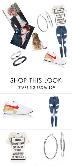 """""""Baekhyun ❤"""" by minmi3 ❤ liked on Polyvore featuring NIKE, Topshop, Moschino and Blue Nile"""