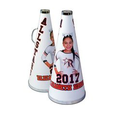 If you are looking for the best gift for a cheerleader, coach, athlete, fan or just an awesome personalized gift for a loved one, look no further than custom megaphones by Make-A-Ball. The best part about it is we don't restrict your design area like every other site! Plus, our design tool makes the program so easy to use you can create your very own personalized megaphone in no time at all. Shop all custom sports gifts at makeaball.com