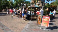Temporary Express Pass kiosks at Universal Orlando attract long lines