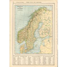 Antique Russia Map Vintage Greece Map Sweden Norway Turkey Balkan - Sweden russia map