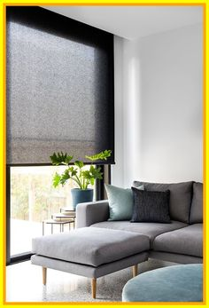 Roller blind in Baltic translucent fabric and pumice colour.- Roller blind in Baltic translucent fabric and pumice colour. Window Furnishing: … Roller blind in Baltic translucent fabric and pumice colour. Curtains Living Room, Kitchen Window Treatments, Kitchen Window Coverings, Living Room Blinds, Living Room Windows, Modern Windows, Living Room Grey, Modern Grey Living Room, Living Room Decor Gray