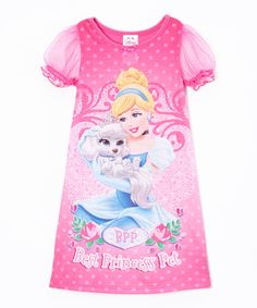 Love this Pink Cinderella Palace Pets Nightgown - Toddler by Disney Princess on #zulily! #zulilyfinds