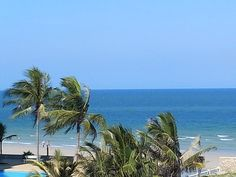 The tropical beach view from the Rock Hua Hin. You can walk straight on the beach when staying at the resort, easy! Beach Resorts, The Rock, Thailand, Tropical, Earth, Places, Water, Outdoor, Gripe Water