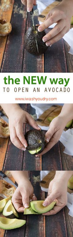 The NEW and improved way to open an Avocado! I didn't think it could be easier, but this way totally is!!