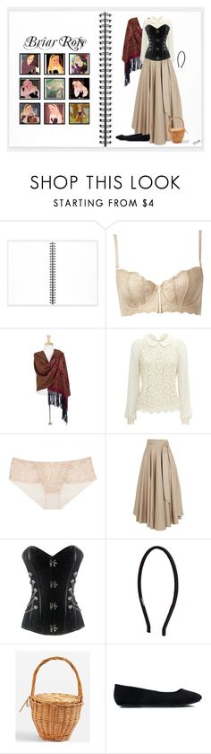"""Briar Rose (1688)"" by trufflelover ❤ liked on Polyvore featuring Muji, Disney, Elle Macpherson Intimates, NOVICA, TIBI, Witchery and Topshop"