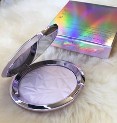 Becca Prismatic Amethyst review and swatches (arm & face) with highlight comparisons #makeup #beauty