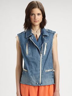 Perfect denim vest - by #RebeccaTaylor