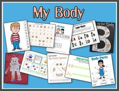 "2 Teaching Mommies has a fun ""My Body"" printable unit for your Preschooler - Kindergartner.  In this fun set, your child will learn about the Letter B, ma"