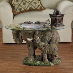 Buy Design Toscano Elephants Majesty African Decor Coffee Table with Glass Top, 30 Inch, Polyresin, Full Color Elephant Table, Elephant Home Decor, Elephant Love, Elephant Decorations, Elephant Stuff, Elephant Art, Elephant Gifts, Living Room Furniture, Living Room Decor