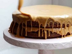 Caramel cake. This recipe from The Lee Bros. Charleston Kitchen provides the right guidance to make a gorgeously oozing, burnt-sugar, sweet-salty mini-tower of delight. #recipe
