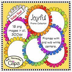 Dollar Deal! Joyful Frame Collection $ http://www.teacherspayteachers.com/Product/Dollar-Deal-Joyful-Frame-Collection-1449887