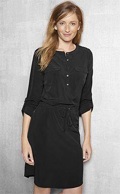 17f148dc5092 Sweatshirt Travel Dress (Emerald-Isle)   Wrinkle-Resistant Silk-Jersey Sweatshirt  Dress   Betabrand   clothing   Pinterest   Sweatshirt dress, Travel dress  ...