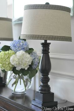 Honey Were Home: Lamp Makeover with Greek Key Trim