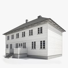 3ds max realistic wooden house