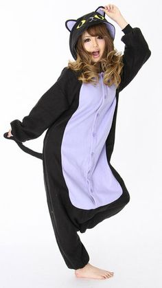 Black Cat Kigurumi I want this lol