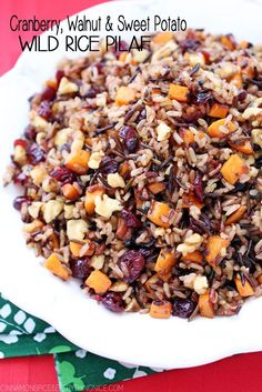 Try Cranberry, Walnut & Sweet Potato Wild Rice Pilaf! You'll just need 1 can ounces) low-sodium chicken or vegetable broth, 1 bay leaf, teaspoon. Vegetarian Recipes, Cooking Recipes, Healthy Recipes, Cooking Rice, Cooking Steak, Healthy Foods, Cooking Blogs, Healthy Sides, Cooking Turkey
