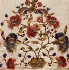 Підризник. Окрайка другої половини XVIII ст. Однобічна, художня гладь, гаптування у прикріп.