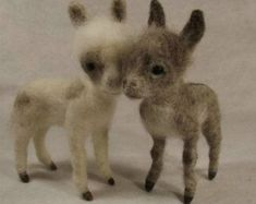 Needle felted pattern for a miniature donkey, needle felted donkey tutorial, PDF instant download tutorial, Needle felting tutorial #needlefeltingtutorials