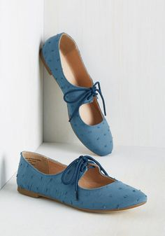 Restricted Footwear Blossoming Boucle Flat in Blue