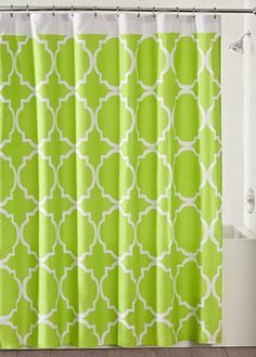 Lime Green Shower Curtain BBB Curtains Bathroom Kids