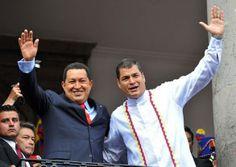 #Venezuela Chávez y Rafael Correa (Presidente de #Ecuador).