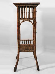 Spirited Antique Edwardian Early 20th Century Bamboo Side Occasional Tri Leg Gypsy Table Tables Antique Furniture