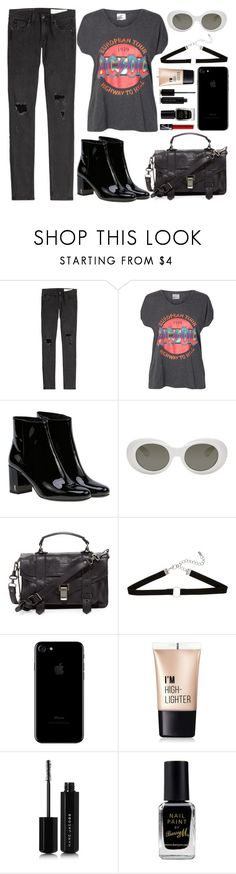 """""""ACDC"""" by carolsposito ❤ liked on Polyvore featuring rag & bone, Vero Moda, Yves Saint Laurent, Acne Studios, Proenza Schouler, Charlotte Russe, Marc Jacobs and Barry M"""