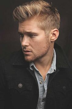Blonde-Haircut-For-Men/ mens haircuts blonde, haircuts for men, Blonde Man, Warm Blonde, Brown To Blonde, Dark Brown, Men Blonde Hair, Blonde Beauty, Hair Beauty, Medium Blonde Hair, Medium Hair Cuts