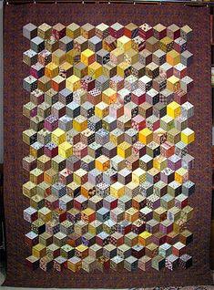 091125 Quilt d'automne – les cubes ou Baby Blocks                              …