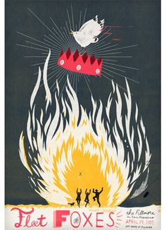 Fleet Foxes  #band #poster #design