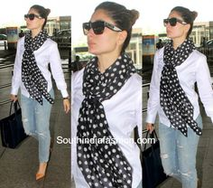 Kareena Kapoors Travel Look photo Western Dresses, Western Outfits, Western Wear, Fashion Pants, Fashion Outfits, 2016 Fashion Trends, Stylish Sarees, Professional Dresses, India Fashion