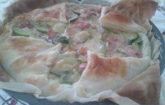 Sfoglia rustica con zucchine stracchino e pancetta - www.cucinandomania.it