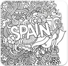Раскраска-антистресс Испания - Раскраски для детей