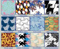 Math Art Projects Activities   ... in school, math art in elementary and high school, Escher in classroom:
