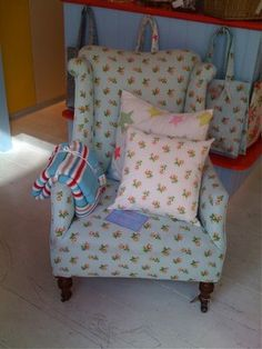 Cath Kidston style chair - great for a reading nook.
