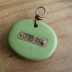 DREAM - As Seen in HandCrafted Jewelry 2012 - TouchStone - Rustic Artisan Handmade Connector Pendant, $22.00