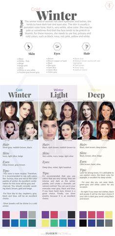 Tipos de piel invierno , Diferentes tipos de piel invierno , Mujer invierno piel , Tonos de piel invierno , Diferentes tonos de piel invierno
