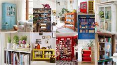Βάψιμο - Τεχνικές Παλαίωσης σε ΒΙΒΛΙΟΘΗΚΕΣ Bookcase, Gallery Wall, Shelves, Frame, Diy, Home Decor, Antiquities, Picture Frame, Shelving